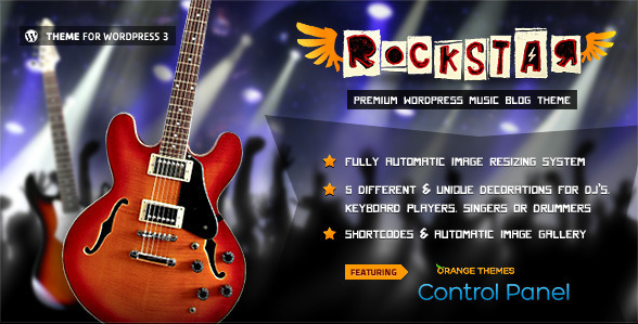 RockStar Theme For Music Bands
