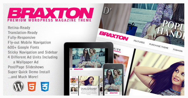 wodpress fashion theme braxton