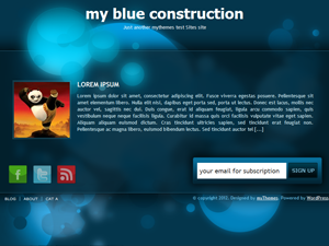 blue constrution page